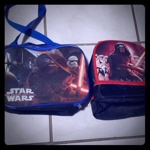 2 Star Wars insulated lunch bags
